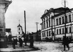 Вид на ул. Николодворянская и Старо-Ямскую (Николодворянскую) церковь. г.Рязань, 1914г.