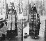 Женщина в праздничном костюме Скопинского уезда Рязанской губернии. Фото 1900-х гг.