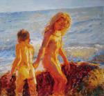 """""""Золотые дети"""", холст, масло, 2007 г."""