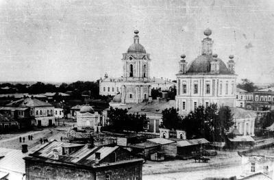 Вид на Успенский Собор и Соборную площядь. 1909г.