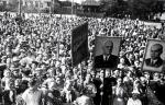 Митинг тружеников сельского хозяйства в одном из районов области, 1959 г.