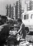 Книжный базар на территории Рязанского нефтезавода, 1963 г.